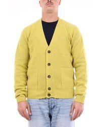 Heritage Strickjacke aus schurwolle - Gelb