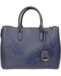 Ralph Lauren - Blue Leather Handbag - Lyst