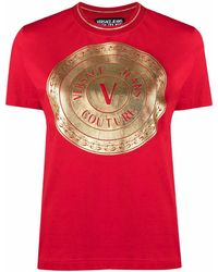 Versace Jeans Couture BAUMWOLLE T-SHIRT - Rot