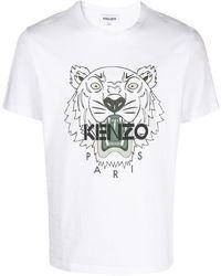 KENZO T-Shirt mit Logo-Print - Weiß
