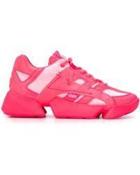 Junya Watanabe Jek102s20neon Leather Sneakers - Pink