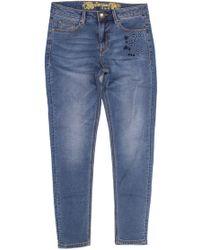 Desigual Blue Cotton Jeans