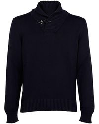 Fay BLAU WOLLE PULLOVER