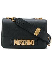 Moschino Black Leather Shoulder Bag