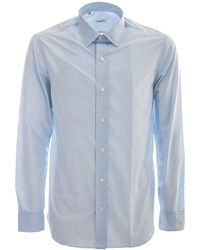 Salvatore Piccolo Cotton Shirt - Blue