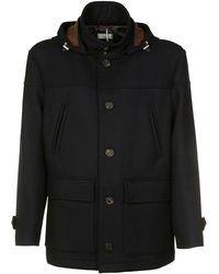 Brunello Cucinelli Blue Wool Coat