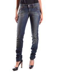 John Galliano Women's Mcbi130031o Blue Cotton Jeans