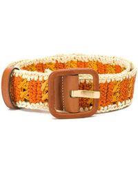 Tory Burch - Orange Fabric Belt - Lyst