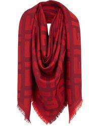 Fendi Red Wool Shawl