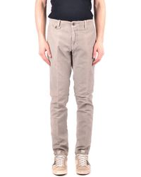 Incotex Grey Cotton Pants - Gray