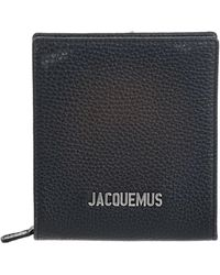 Jacquemus - Black Leather Messenger Bag - Lyst