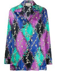 Gucci - GG Rhombus Ramage Shirt - Lyst