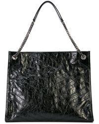 Saint Laurent Handtasche mit Logo - Schwarz