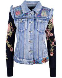 Desigual Blue Polyester Jacket