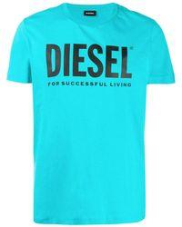 DIESEL - T-Shirt mit Logo - Lyst