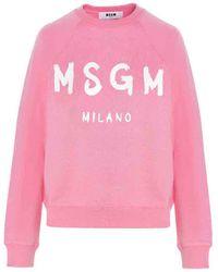 MSGM BAUMWOLLE SWEATSHIRT - Pink