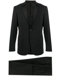 Tonello Anzug mit Satinbesatz - Schwarz