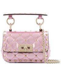 Valentino LEDER SCHULTERTASCHE - Pink