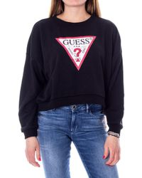 Guess Black Polyester Sweatshirt