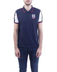 Prada Blue Polyester Polo Shirt