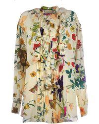 Gucci Beige Silk Blouse - Natural