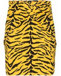 Saint Laurent Printed Skirt Yellow