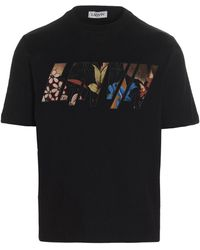 Lanvin T-shirt With Logo Embroidery - Black