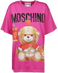Moschino Fuchsia Cotton T-shirt - Pink