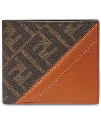 Fendi Portemonnaie mit FF-Muster - Braun