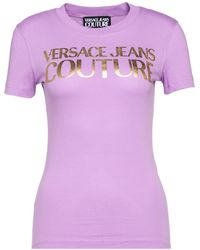 Versace ANDERE MATERIALIEN T-SHIRT - Lila