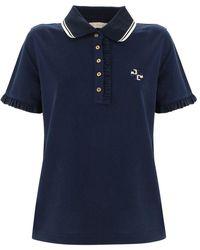 Tory Burch Women's 73416405 Blue Cotton Polo Shirt