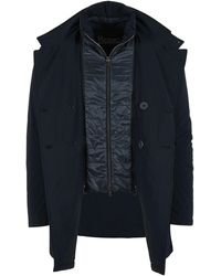 Herno ANDERE MATERIALIEN TRENCH COAT - Weiß