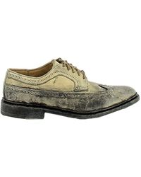 Frye Beige/grey Leather Lace-up Shoes - Gray