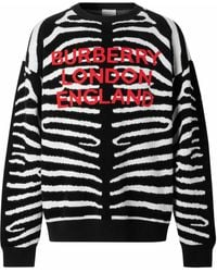 Burberry Jacquard-Pullover mit Zebramuster - Mehrfarbig
