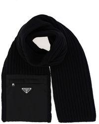 Prada - Wool Scarf - Lyst
