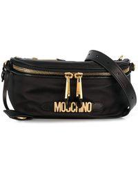 Moschino Black Nylon Belt Bag