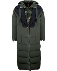 Moncler - Green Polyester Coat - Lyst
