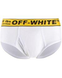 Off-White c/o Virgil Abloh Slip mit Logo-Bund - Weiß
