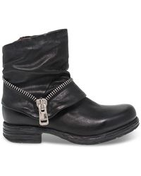 A.s.98 Black Leather Ankle Boots