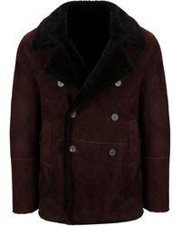 Tagliatore Brown Leather Coat