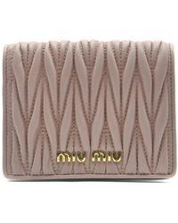 Miu Miu Pink Leather Wallet