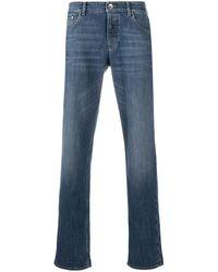 Brunello Cucinelli Halbhohe Jeans - Blau