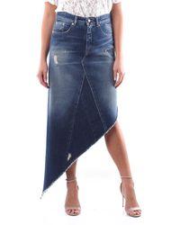 Maison Margiela Knee-length Dark Jeans Skirt - Blue