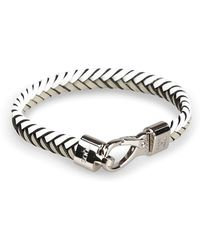 Tod's White Metal Bracelet