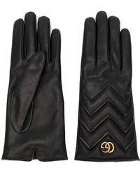 Gucci - Black Leather Gloves - Lyst