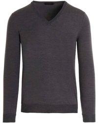 Zanone Wool Sweater - Grey