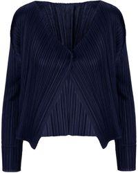 Pleats Please Issey Miyake Blue Polyester Jacket