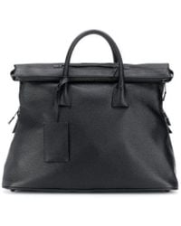 Maison Margiela Black Leather Travel Bag