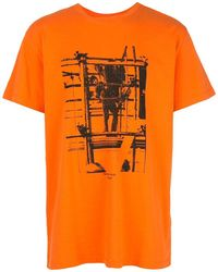 Off-White c/o Virgil Abloh Print Cotton T-shirt - Orange