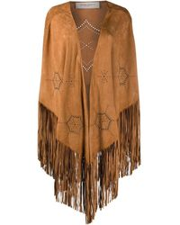 Golden Goose G36wp137a1 Leather Poncho - Natural